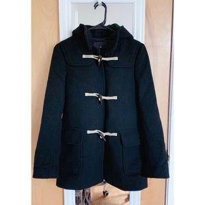 New Uniqlo Women's Black Wool Duffle Coat
